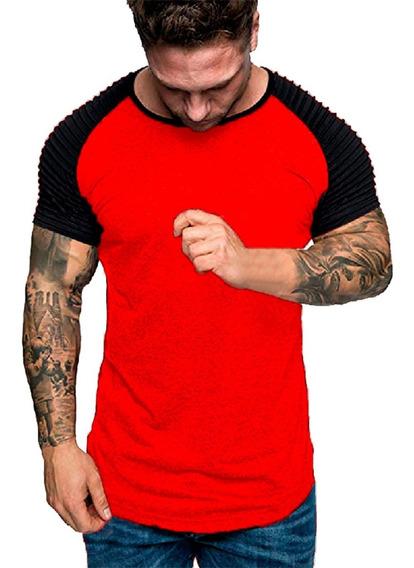 Remeras Hombre Entallada Slim Fit Algodon Premim Moda A27