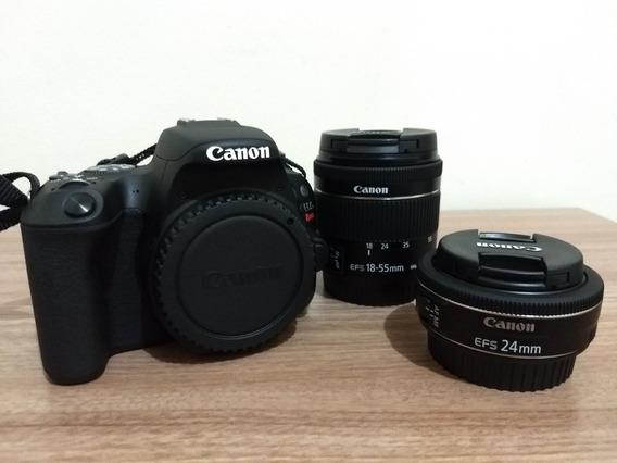 Câmera Canon Sl2 + 18-55mm + 24mm + Zoom H1 + Acessórios