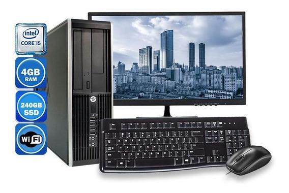 Computador Pc Hp 8300 Intel I5 3ºgeração 8gb Ssd 240gb Wi-fi