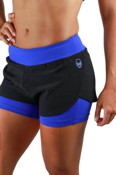 Shorts Kvra Charme Preto Azul