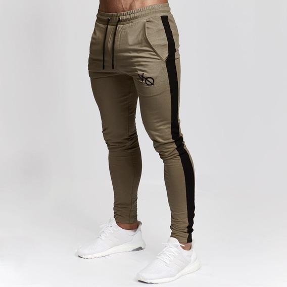 Vanquish Fitness Jogger Edge Pants Chándal Con Borde Caqui