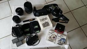 Equipamento Fotografico Nikon ( D200, Lentes, Etc)