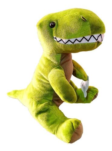 Imagen 1 de 2 de Dinosaurio De Peluche Verde Para Niños Super Suave