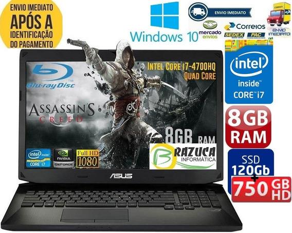 Notebook Asus I7-4700hq 8gb Ssd 180gb+hd 750gb Gtx765m Gamer