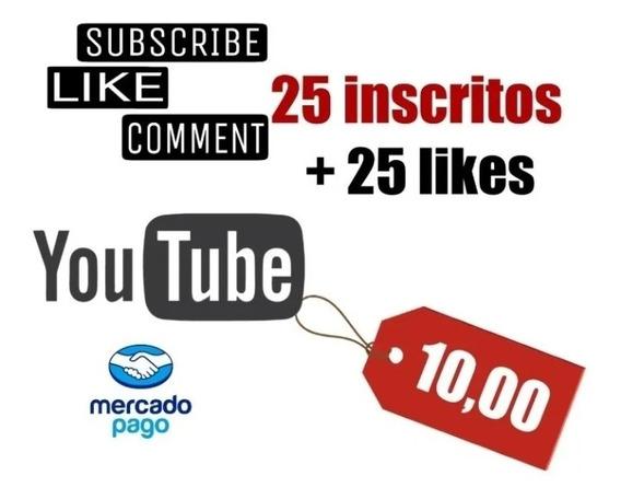 Kit 25insritos,profissional 25likes,de Tripe E Luzes Youtube
