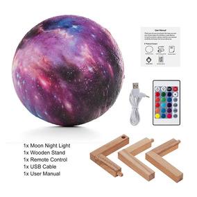 Luminária Esotérica 3d Planetas Com Controle Remoto 8cm.