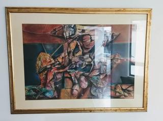 Pintura Óleo Sobre Lienzo Los Borgia Mantilla Caballero
