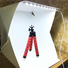 Mini Estúdio Fotográfico Portátil Box 20 Leds