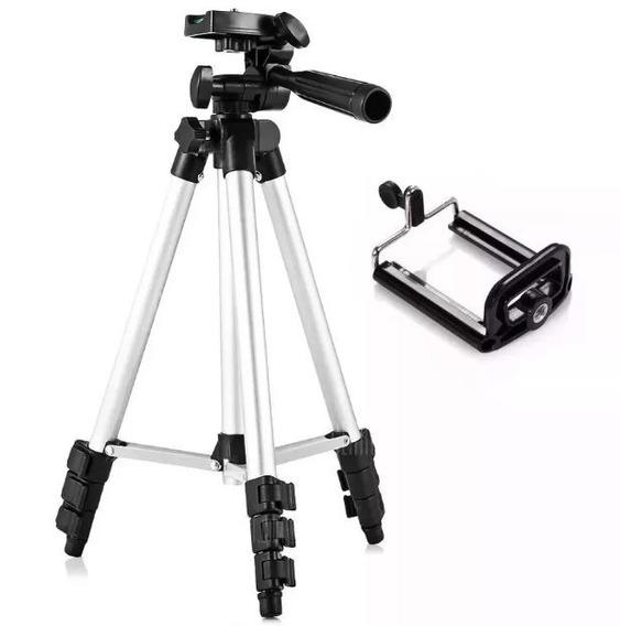 Tripé Telescópio Universal Câmera Celular 1,20 Metros Bolsa