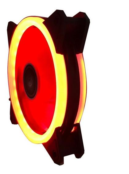 2 Cooler Fan 120mm C/30led Vermelho Dupla Face P/gabi Pc Cpu