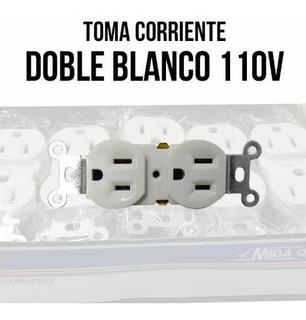 Tomacorriente Doble Blanco 110v (caja 10 Piezas)