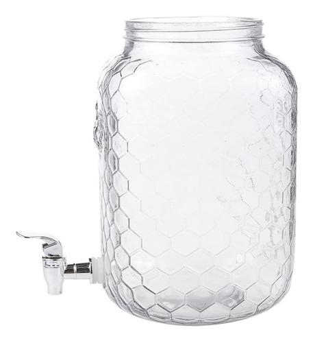 Frasco Dispensador Vidrio 3.5 Litros Dispensador Líquidos