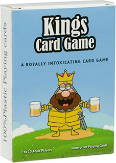 Red Cup Pong Kings Drinking 52 Tarjetas De Fiesta Impermeabl