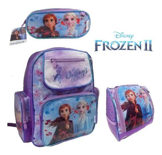 Kit Mochila Escolar Infantil Frozen 2 Costas-chenson