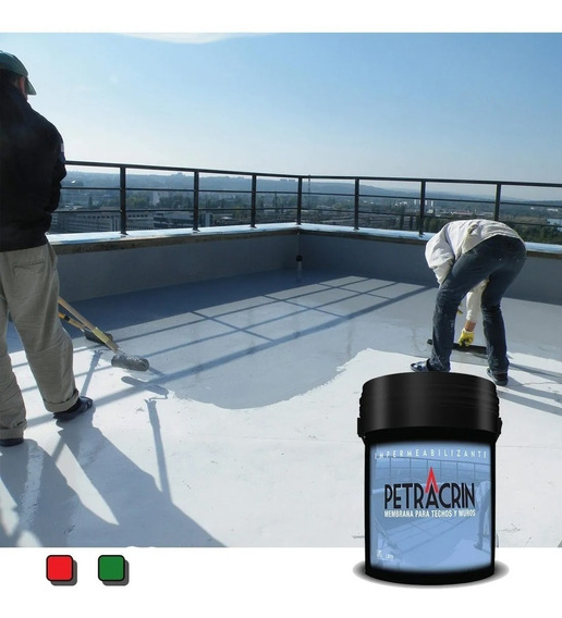 Membrana Petracrin En Pasta Techo Blanca Roja Verde 20 Kgs