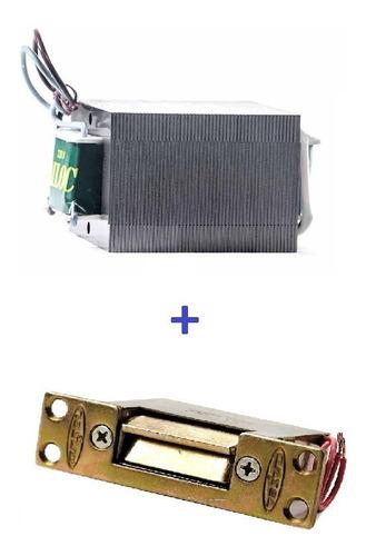 Kit Transformador Compacto 220v/12v + Cerradura Electrica