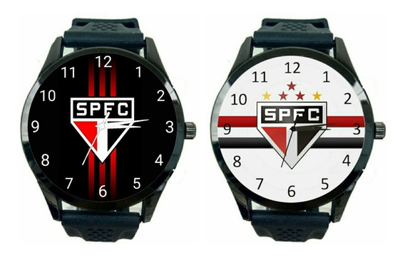 São Paulo Kit 2 Relógio Masculino Promoção Oferta Time Tricolor Futebol T206