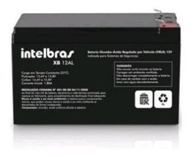 Bateria 12v Para Central De Alarme Xb 12al - Intelbras