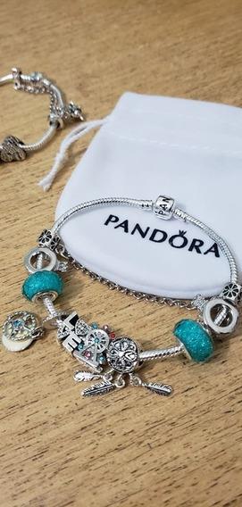 Pulseira Pandora Berloques Love Linda Amor Brilhantes