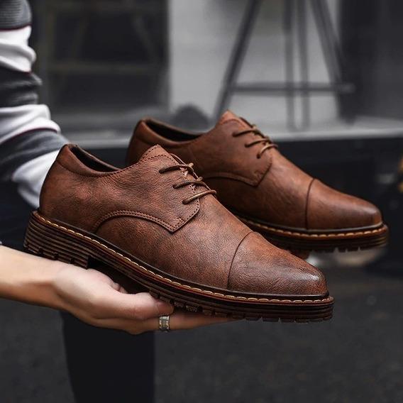 Zapatos Clasicos De Vestir Para Hombre 100% Cuero