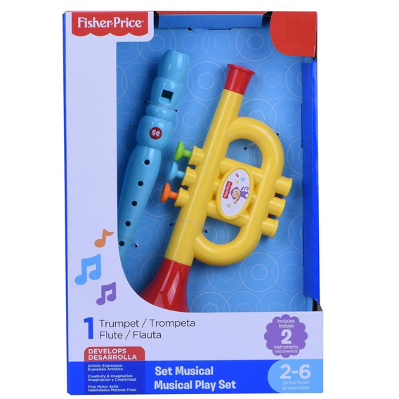 Set Musical Flauta Y Trompeta Fisher Price