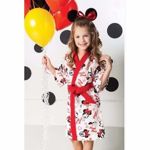 166a5a76335af8 Roupão Infantil Felpudo Disney Minnie Tam G (12 A 14 Anos)