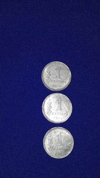 Serie 3 Monedas Peso Ley De 1 Centavo.