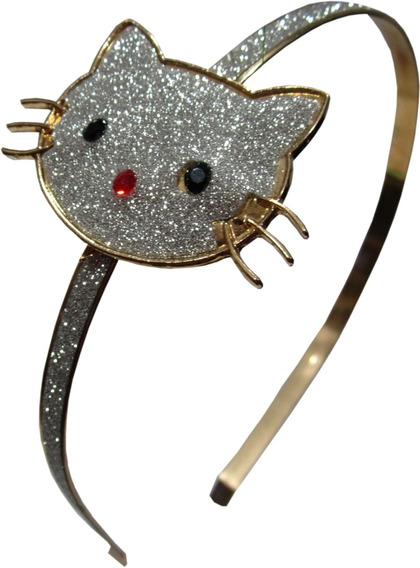Diadema Para Cabello Niña Metal Alto Brillo Hello Kitty