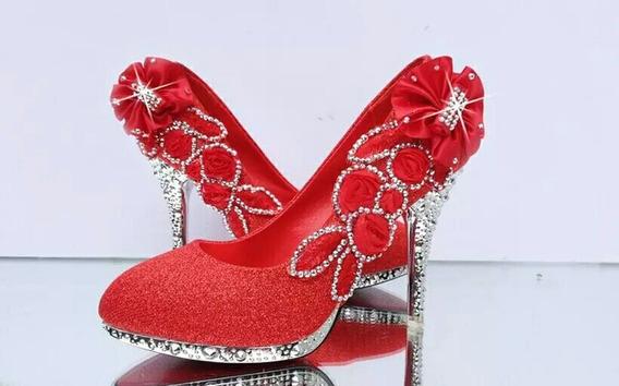 Sapato Peep Toes Confortável Tamanho 34