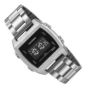 Relógio Mondaine Masculino Digital Lcd 99395g0mvne3 Prata