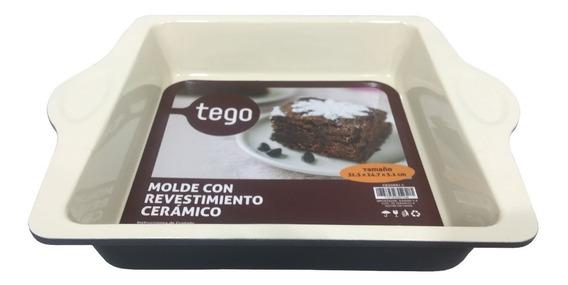 Molde Torta Ceramica Cocina Utensillos Cuadrado