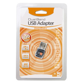Adaptador Wifi Usb Ac Dual Band Wireless 2.4 E 5g