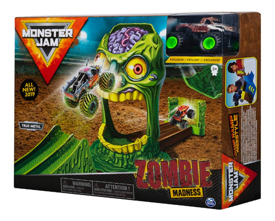 Monster Jams Playset Con Rampas Zombie Madness