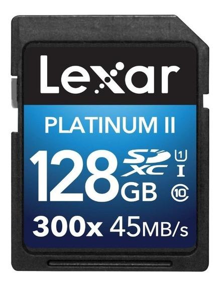 Cartão De Memoria Lexar 128gb Platinum Ii Uhs-i 300x Sdxc