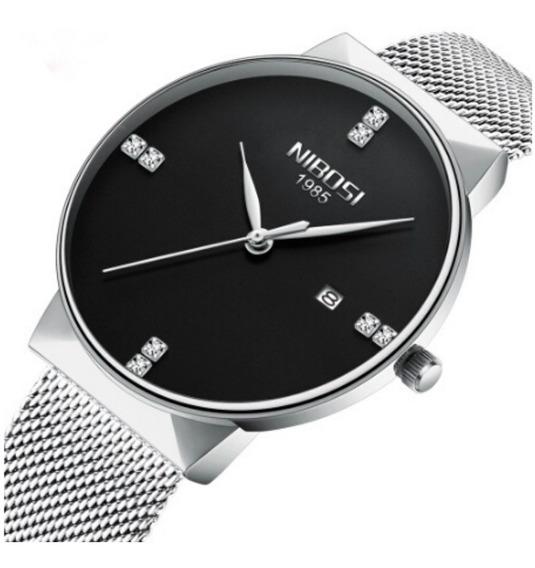 Relógio Nibosi Unisex De Pulso Casual De Luxo Original