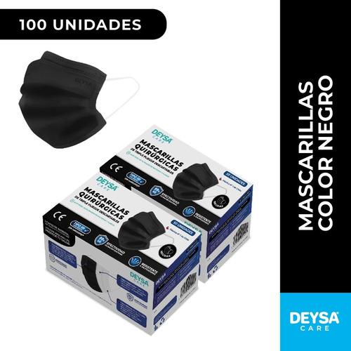 Imagen 1 de 4 de Mascarillas Desechables 50 Un 2 Cajas (100 Un). Color Negro