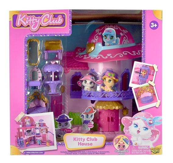 Kitty Club Mascotas Casa Playset Club House Con Accesorios
