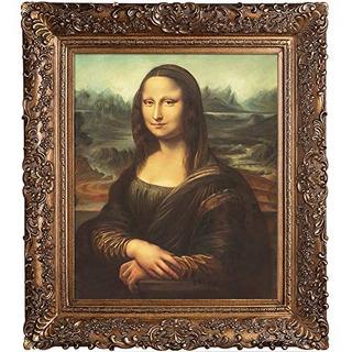 Overtockart Mona Lisa Con Burgeon Gold Frame Pintura Al Óleo