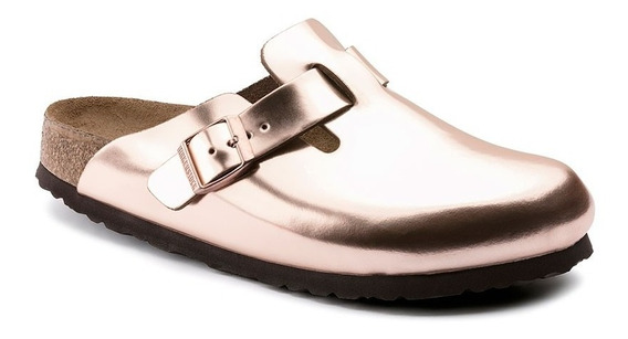 Zuecos Mujer Birkenstock Boston Nl Metallic Copper