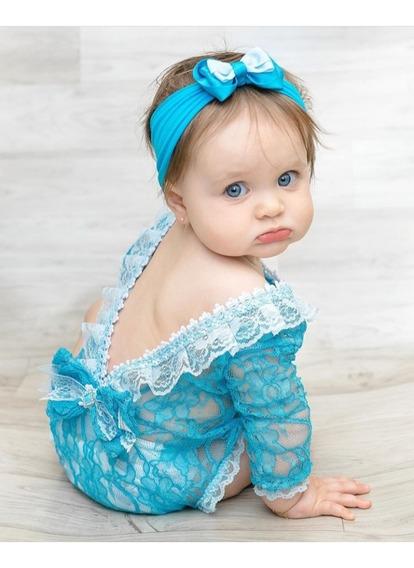 Roupinha Ensaio Fotográfico Newborn Body De Renda