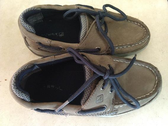 Zapatos Náuticos Grises Cancheros Sperry Niño Talle 31.