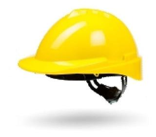 Casco De Seguridad Libus Milenium Amarillo Con Arnes Plast