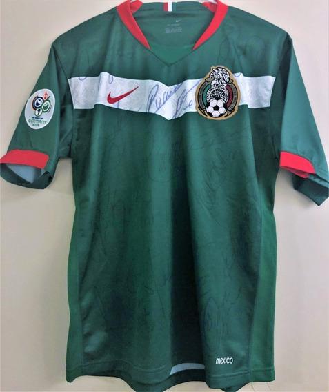 Camisa Do México Copa Do Mundo 2006 Autografada Elenco