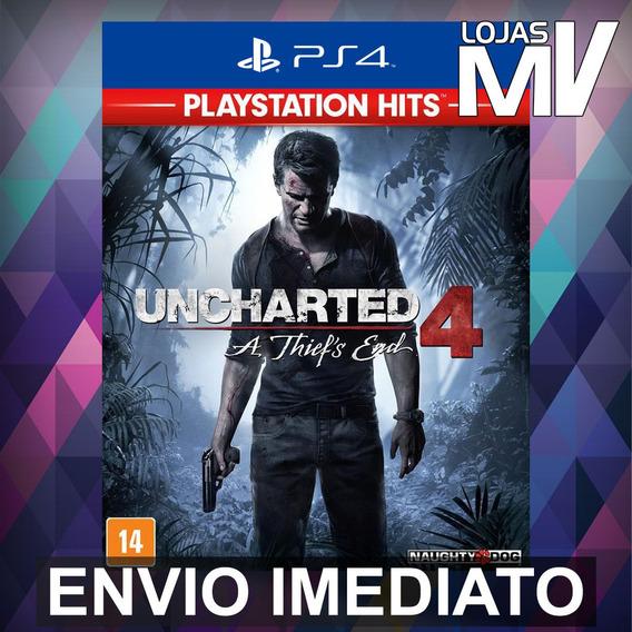 Uncharted 4: A Thiefs End - Ps4 Código 12 Dígitos