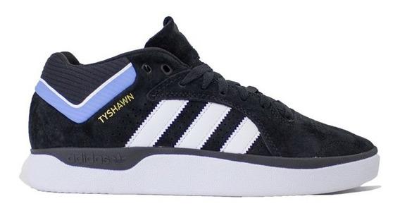 Tênis adidas Tyshawn Black White Blue