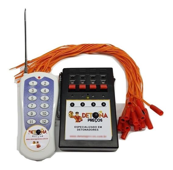 Acionador De Fogos 4 Canais, Modo Sequencial Fogos / Gerbs