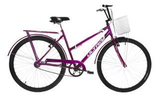 Bicicleta Lilás Aro 26 V-brake C/ Paralamas Ultra Bikes Poti