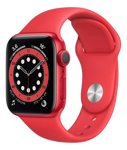 Imagen 1 de 8 de Apple Watch  Series 6 (GPS) - Caja de aluminio (PRODUCT)RED de 40 mm - Correa deportiva (PRODUCT)RED
