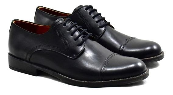 Zapato Negro De Cuero Con Suela De Goma Para Hombre 3120-atm