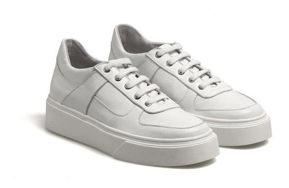 Zapatillas Cuero Blancas. Febo Ss19.